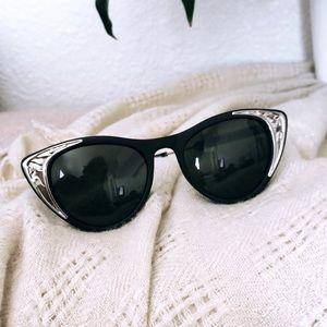 Spitfire England Matte Black & Silver Sunglasses